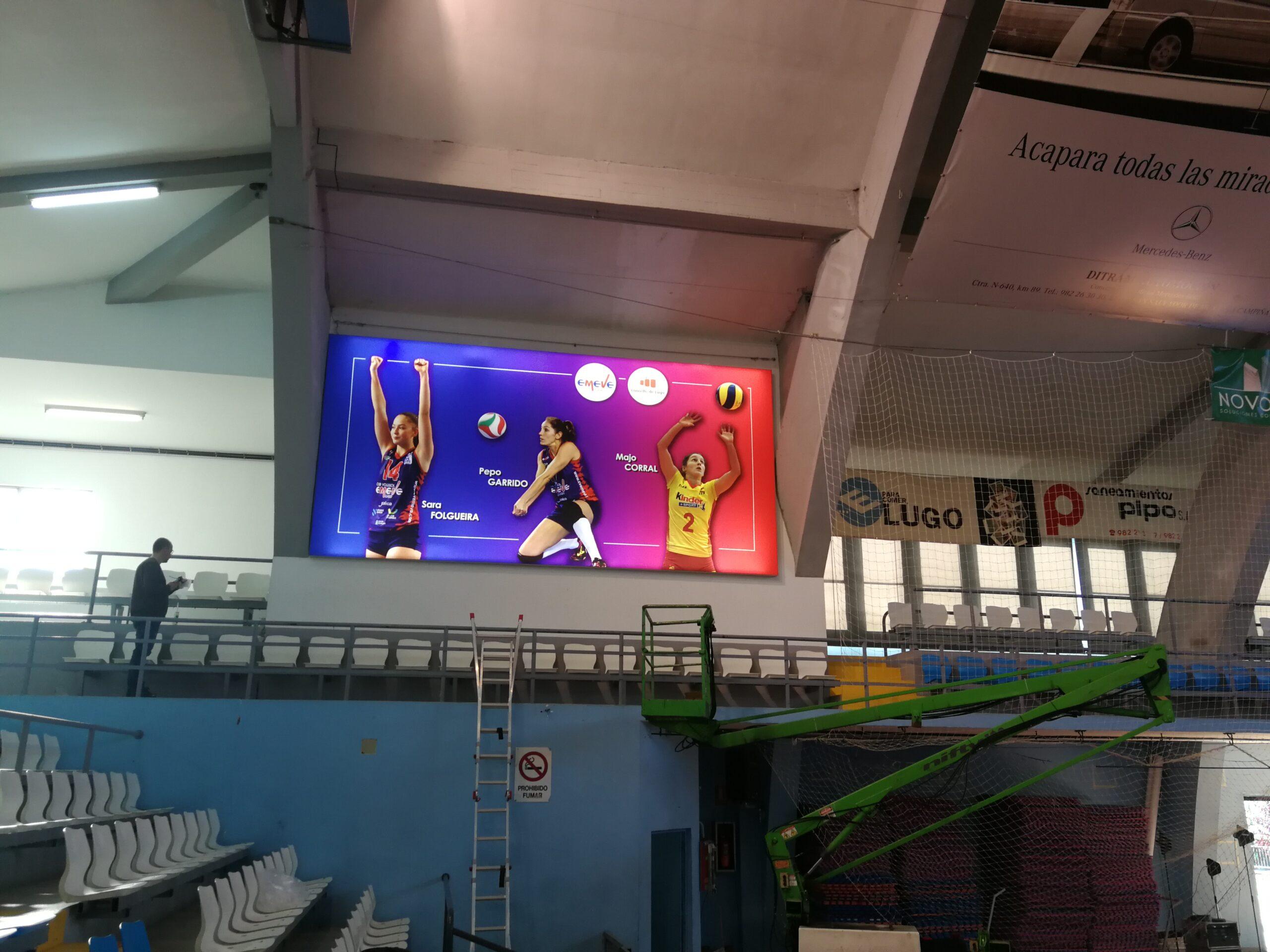Gran formato, Lightbox equipo de voleibol Arenal Emevé